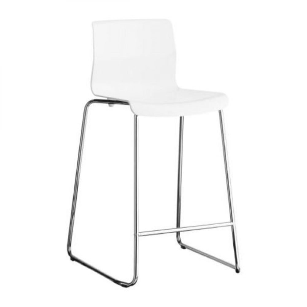 Phenomenal Monaco Barstool White Bethings Gmtry Best Dining Table And Chair Ideas Images Gmtryco