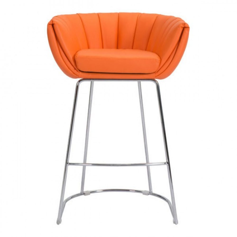 Incredible Lotus Bar Stool Tangerine Bethings Onthecornerstone Fun Painted Chair Ideas Images Onthecornerstoneorg